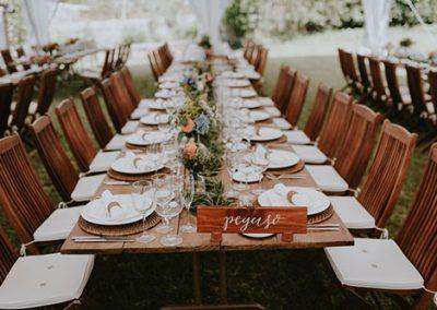 Decoración en una boda de catering. Foto Josh Devotto