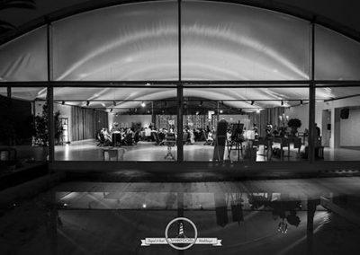 Salones y piscina del Pazo de San Fernando. Foto: Danny Goiri